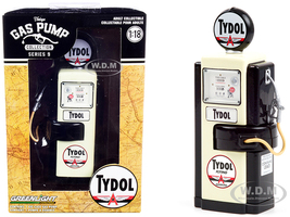 1948 Wayne 100-A Gas Pump Tydol Flying Gasoline Black Cream Vintage Gas Pumps Series 9 1/18 Diecast Model Greenlight 14090 A
