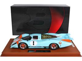 1969 Porsche 917 LH #1 Gulf Oil Light Blue Orange showed exhibition 1969 DISPLAY CASE Limited Edition 40 pieces Worldwide 1/18 Model Car BBR BBRC1833F1