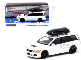 Mitsubishi Lancer Evolution Wagon Roof Box White 1/64 Diecast Model Car Tarmac Works T64R-042-WH