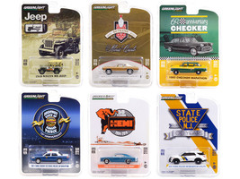 Anniversary Collection Set of 6 pieces Series 12 1/64 Diecast Model Cars Greenlight 28060