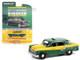 1960 Checker Marathon Taxi Green Yellow Checker 60th Anniversary Anniversary Collection Series 12 1/64 Diecast Model Car Greenlight 28060 C