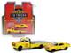 1967 Chevrolet C-30 Ramp Truck 1969 Chevrolet Camaro #28 Shell Oil Yellow Red Stripes HD Trucks Series 20 1/64 Diecast Model Cars Greenlight 33200 A
