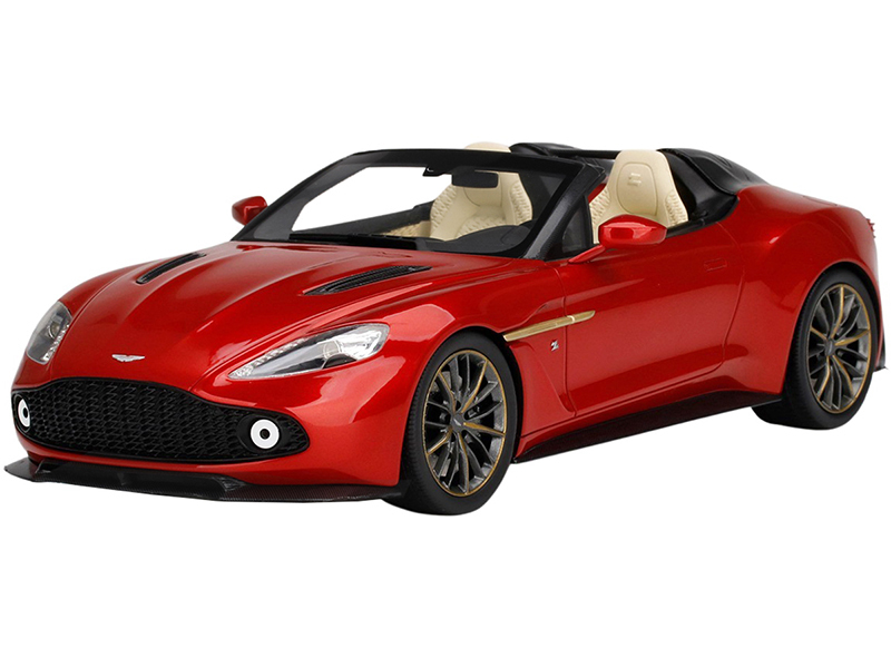 Aston Martin Vanquish Zagato Speedster Lava Red Metallic 1/18 Model Car Top Speed TS0233