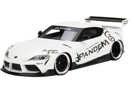 Toyota Pandem GR Supra V1.0 White 1/18 Model Car Top Speed TS0294