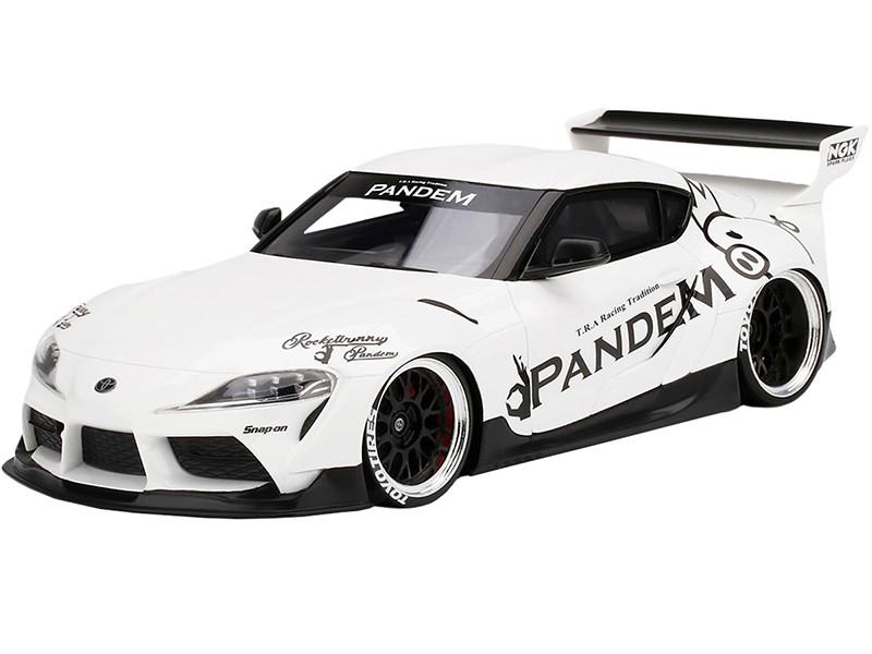 Toyota Pandem GR Supra V1.0 White 1/18 Model Car Top Speed TS0294