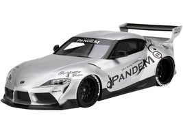 Toyota Pandem GR Supra V1.0 Silver 1/18 Model Car Top Speed TS0297