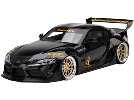 Toyota Pandem GR Supra V1.0 Black 1/18 Model Car Top Speed TS0307