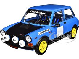 1980 Autobianchi A112 Abarth Blue Chardonnet Rally Car 1/18 Diecast Model Car Solido S1803801
