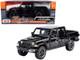 2021 Jeep Gladiator Rubicon Closed Top Pickup Truck Black 1/24 1/27 Diecast Model Car Motormax 79368