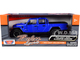 2021 Jeep Gladiator Rubicon Open Top Pickup Truck Blue 1/24 1/27 Diecast Model Car Motormax 79370
