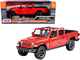 2021 Jeep Gladiator Rubicon Open Top Pickup Truck Red 1/24 1/27 Diecast Model Car Motormax 79370
