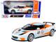 Lotus Evora GT4 #41 Gulf Oil Light Blue White Orange Stripes 1/24 Diecast Model Car Motormax 79660