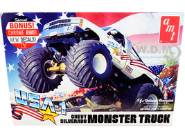 Skill 2 Model Kit Chevrolet Silverado USA-1 Monster Truck 1/25 Scale Model AMT AMT1252