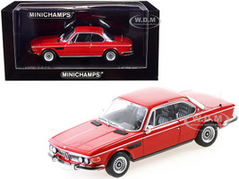 1969 BMW 3.0 CS Red Limited Edition 504 pieces Worldwide 1/43 Diecast Model Car Minichamps 410029020