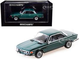 1969 BMW 3.0 CS Green Metallic Limited Edition 504 pieces Worldwide 1/43 Diecast Model Car Minichamps 410029021