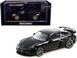 2020 Porsche 718 Cayman GT4 Black Limited Edition 336 pieces Worldwide 1/43 Diecast Model Car Minichamps 410067601