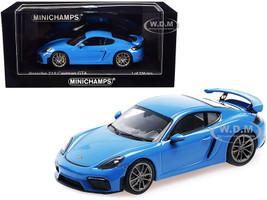 2020 Porsche 718 Cayman GT4 Light Blue Limited Edition 336 pieces Worldwide 1/43 Diecast Model Car Minichamps 410067602