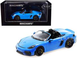 2020 Porsche 718 Spyder Convertible Light Blue Limited Edition 336 pieces Worldwide 1/43 Diecast Model Car Minichamps 410067700