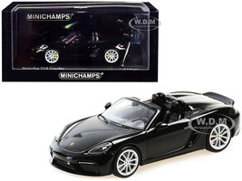 2020 Porsche 718 Spyder Convertible Black Limited Edition 336 pieces Worldwide 1/43 Diecast Model Car Minichamps 410067701