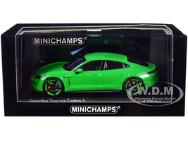 2020 Porsche Taycan Turbo S Bright Green Limited Edition 336 pieces Worldwide 1/43 Diecast Model Car Minichamps 410068471