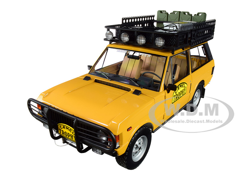 Land Rover Range Rover Orange Roof Rack Accessories Camel Trophy Papua New Guinea 1982 1/18 Diecast Model Car Almost Real 810106
