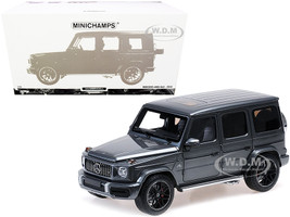 2018 Mercedes-AMG G63 Dark Gray Metallic Limited Edition 300 pieces Worldwide 1/18 Diecast Model Car Minichamps 110037062