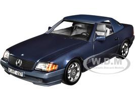 1989 Mercedes Benz 500 SL Convertible Dark Blue Metallic 1/18 Diecast Model Car Norev 183717