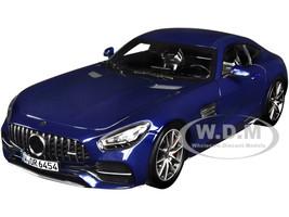 2019 Mercedes Benz AMG GT S Dark Blue Metallic 1/18 Diecast Model Car Norev 183740
