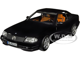 1999 Mercedes Benz SL 500 Convertible Black 1/18 Diecast Model Car Norev 183750