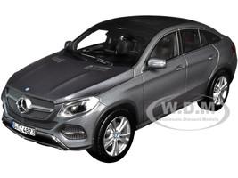 2015 Mercedes Benz GLE Coupe Dark Gray Metallic 1/18 Diecast Model Car Norev 183790