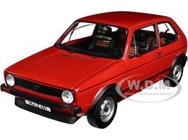 1976 Volkswagen Golf GTI Red Black Stripes 1/18 Diecast Model Car Norev 188472