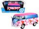 Volkswagen Type 2 T1 Delivery Van Love Pink Blue Metallic 1/24 Diecast Model Car Motormax 79581