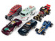 Pop Culture 2021 Set of 6 Cars Release 1 1/64 Diecast Model Cars Johnny Lightning JLPC003