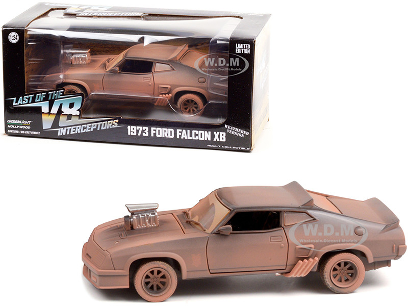 1973 Ford Falcon XB Weathered Version Last of the V8 Interceptors 1979 Movie 1/24 Diecast Model Car Greenlight 84052