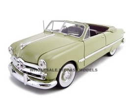 1949 Ford Convertible Green 1/24 Diecast Car Unique Replicas 18581