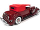 1934 Packard V12 Victoria Burgundy Red Soft Top Red Interior 1/18 Diecast Model Car Autoworld AW271