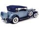 1932 Cadillac V16 Sports Phaeton Metallic Light Silver Blue Enamel Dark Blue 1/18 Diecast Model Car Autoworld AW278