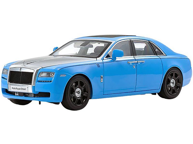 Rolls Royce Ghost Light Blue Silver 1/18 Diecast Model Car Kyosho 08802 LBS