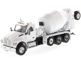 Kenworth T880 SFFA McNeilus Bridgemaster Concrete Mixer White Transport Series 1/50 Diecast Model Diecast Masters 71081