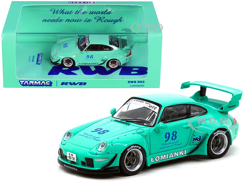 Porsche RWB 993 #98 Lomianki Turquoise 1/64 Diecast Model Car Tarmac Works T64-017-LO