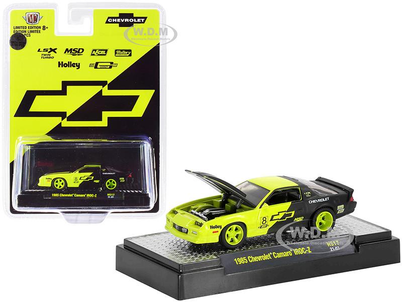 1985 Chevrolet Camaro IROC-Z #8 Shock Green Black Limited Edition 5786 pieces Worldwide 1/64 Diecast Model Car M2 Machines 31500-HS17