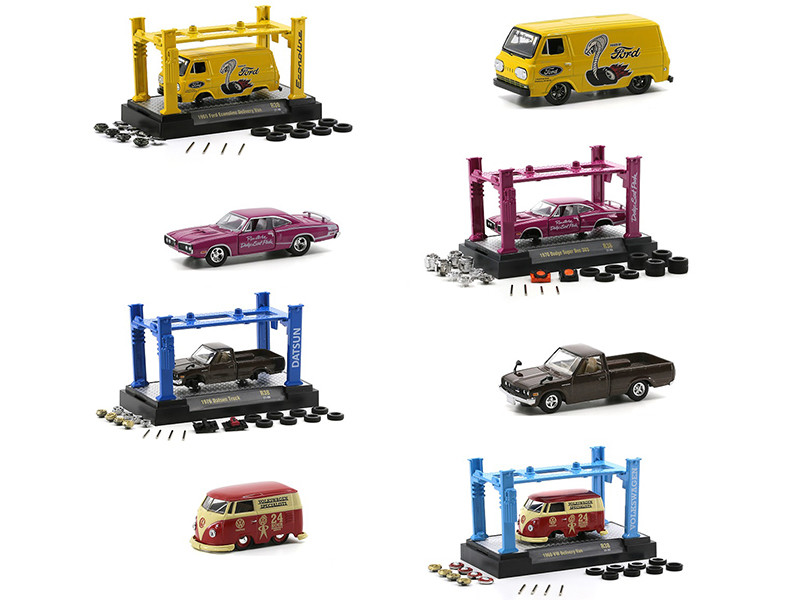 Model Kit 4 piece Car Set Release 38 Limited Edition 8280 pieces Worldwide 1/64 Diecast Model Cars M2 Machines 37000-38