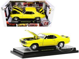 1969 Chevrolet Camaro Z/28 Daytona Yellow Black Stripes Limited Edition 6500 pieces Worldwide 1/24 Diecast Model Car M2 Machines 40300-83 A