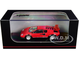 Lamborghini Countach LP500S Red 1/64 Diecast Model Car Kyosho KS06930A1