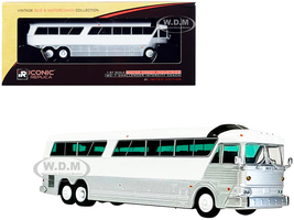 MCI MC-7 Challenger Intercity Coach Bus Blank White Silver Vintage Bus & Motorcoach Collection 1/87 HO Diecast Model Iconic Replicas 87-0271