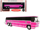 1980 MCI MC-9 Crusader II Intercity Coach Bus Pink Allstate Charter Lines Inc. Vintage Bus & Motorcoach Collection 1/87 HO Diecast Model Iconic Replicas 87-0272