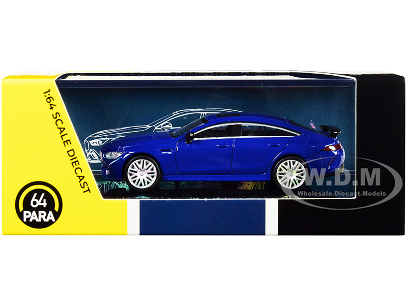 Mercedes-AMG GT 63 S Blue Metallic 1/64 Diecast Model Car Paragon PA-55281