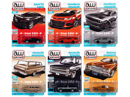 Autoworld Premium 2021 Set A of 6 pieces Release 2 1/64 Diecast Model Cars Autoworld 64312 A