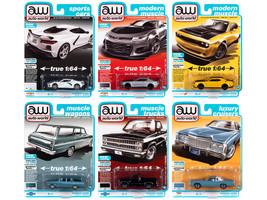 Autoworld Premium 2021 Set B of 6 pieces Release 2 1/64 Diecast Model Cars Autoworld 64312 B