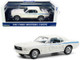 1967 Ford Mustang Coupe Wimbledon White Scotchlite Blue Stripes Indy Pacesetter Special 1/18 Diecast Model Car Greenlight 13584